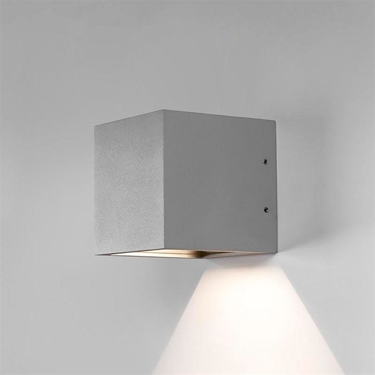 CUBE DOWN LED SILVER