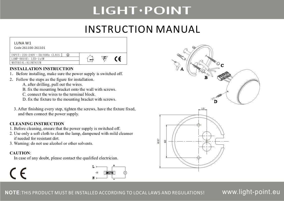Luna W White Case 220 Wiring Diagram Download Manual